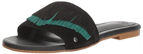 UGG Women's Binx Flat Sandal - Black - 12 B(M) US