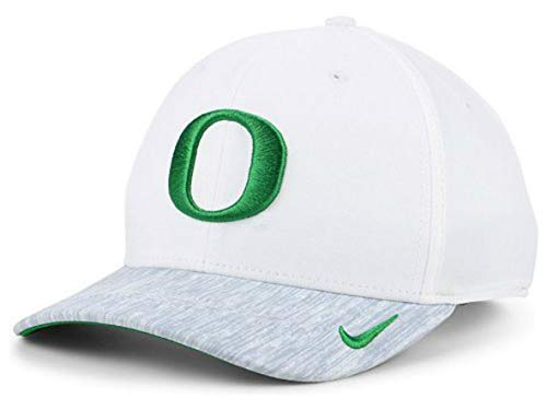 Ducks Mens Oregon Nike - NCAA Oregon Ducks Adjustable Hat Cap One Size Fits Most - White and Gray