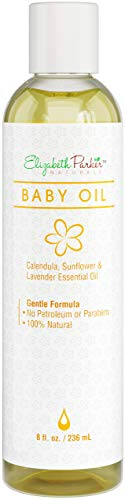 Organic Calendula Baby Massage Oil - Natural Skin Moisturizer with Vitamin E, Sunflower and Lavender Essential Oils - Infant Rash, Cradle Cap, and Eczema Treatment - Safe and Chemical Free (8oz)