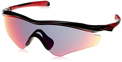 Oakley Men's (a) M2 Frame XL OO9345-03 Non-Polarized Iridium Shield Sunglasses, Polished Black, 145 - Oakley M2
