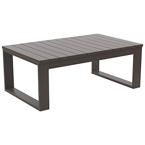 Ashley Furniture Signature Design - Cordova Reef Outdoor Cocktail Table - Slat Top - Brown
