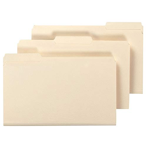 Office Depot File Folders, 1/3 Cut, Legal Size, 30% Recycled, Manila, Pack of 100, 810846 ()