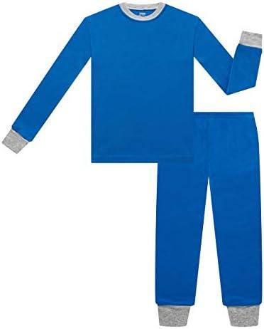 4-Piece Children Sleepwear Pjs for Toddler Boy Cotton Pajama Benaive Pajamas for Boys Lounge Pants Set