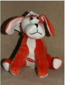 Dog Toy - Zanies Bungee Barker Plush Pull Tug Pet Toy with Squeaker - Orange