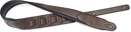 Stagg SPFL 40 DBRW Padded Leather Style Guitar Strap, Dark Brown