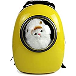 Pet Bag Cat Dog Carrier Spaceship Bag Capsule Backpack Yellow