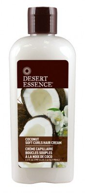 Desert Essence Soft Curls Hair Cream, Coconut, 6.4 Fluid Ounce