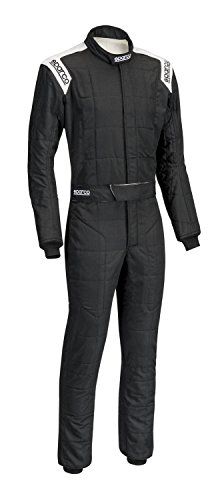 (Sparco Men's Suit (Conquest) (Black/White, X-Large) )