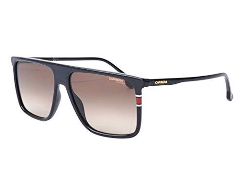 (Carrera Men's 0807 Black/Brown Gradient Lens Rectangular Men's Sunglasses, 58MM)