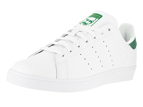adidas-mens-stan-smith-vulc-ftwwht-ftwwht-green-skate-shoe-95-men-us