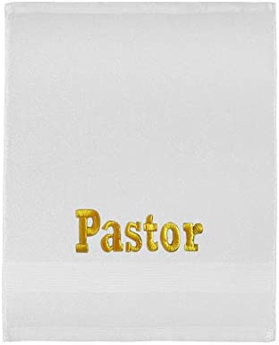 H.F. Clergy Towel for Pastors Appreciation Gift (White/Gold)