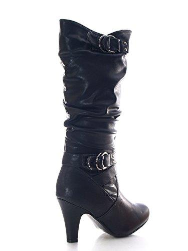 Damen Stiefel Schwarz warm gefüttert # 051