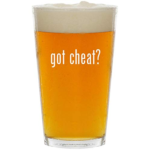 got cheat? - Glass 16oz Beer Pint