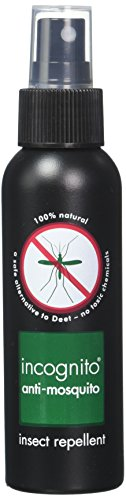 Incognito All Natural Deet Free Anti Mosquito Insect Repellent Spray 3.3 oz