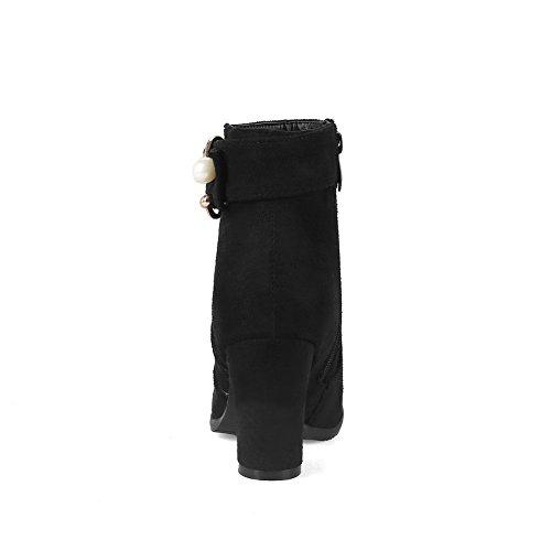Resistant mujer AN Nubuck tobillo Botas superior del Cremallera Negro con en Not DKU01830 parte uretano para el talón A de Novedad cálido N Forro la Water nupciales en cremallera Botas 1E5PBwq5