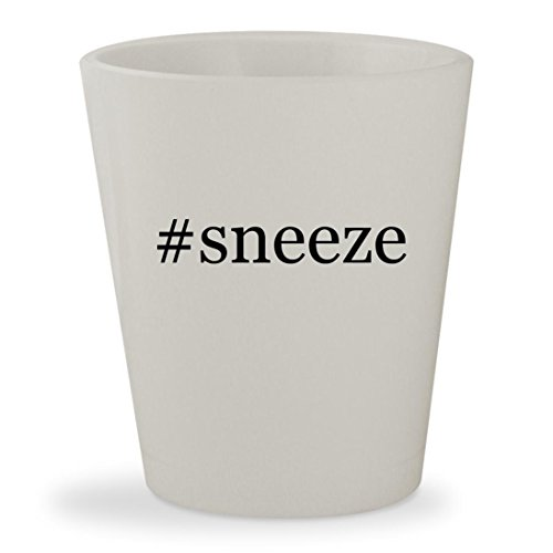 #sneeze - White Hashtag Ceramic 1.5oz Shot Glass