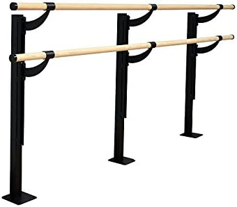 USA Made 4 FT Freestanding Stretch//Dance Bar Vita Vibe Traditional Wood Ballet Barre 5 FT Portable Double Bar with Carry Bag
