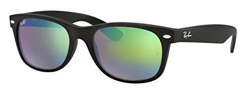 Ray-Ban RB2132 622/19 New Wayfarer Flash Series Unisex Sunglasses Green Mirror 55mm (Mirrored Wayfarers Ray Ban)