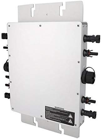 Zunate Solar Wechselrichter,Solar Inverter WVC-1200W Solar Micro Inverter Sinus Micro Inverter Power Reine Sinus Wechselrichter,IP65 wasserdicht Wechselrichter,433MHz,Photovoltaik Mikro Inverter