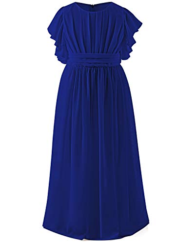 Abaowedding Chiffon Dresses Flutter Bridesmaid