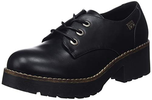 Mujer Zapatos de Nvbk Oxford Coolway Negro CHERBLU Cordones 001 para vqP5YRn