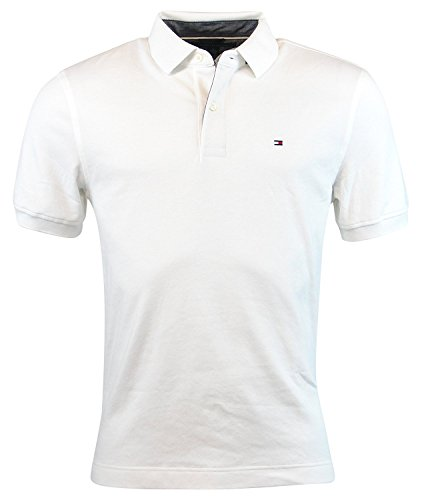 Tommy Hilfiger Mens Interlock Polo Shirt (XXL, Classic White) - Tommy Hilfiger Polo Rugby