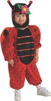 Deluxe Toddler Ladybug Costumes (Deluxe Costume, Little Lady Bug)