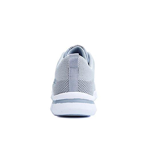 Sneakers Moda Traspirante Flyknit In Tessuto Scarpe Da Corsa Leggere Calzature Da Passeggio Sportive Grigio Chiaro