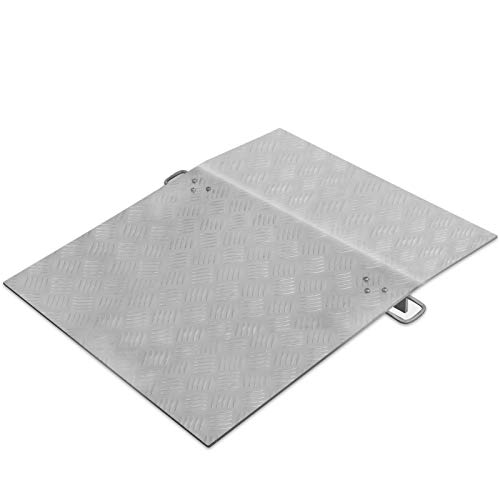 """BestEquip Truck Dock Plate 500lbs 24"""" Length 30"""" Usable Width 10mm Thickness Loading Dock Plates Aluminum Dock Plate for Carts Pallet Trucks"""