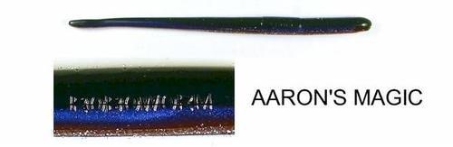 Roboworm SR-FFFB Straight Tail Worm 6'', Green Pumpkin, 10/Pack