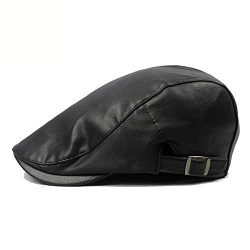 Delantero de los Pato Sombrero Invierno Hombres qin e la del Cuero GLLH PU otoño hat Lengua Sombrero C D Sombreros señoras de Boina de q4OxwnRtv