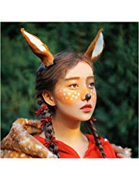(Christmas Cos Cute Deer Large Reindeer Ear Band Photo Shoot Forest Goddess)