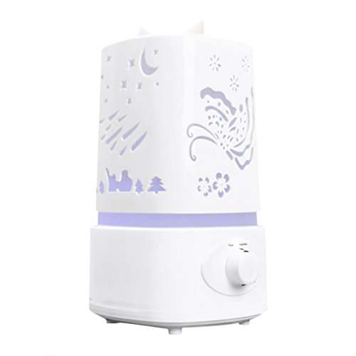 : Aroma Diffuser,EIVOTOR Ultrasonic Air Humidifier Aroma Diffuser,Oil Cool Mist Humidifier, Aroma Diffuser Purifier,7 Colorful LED Lights,1.5 Liters Water Capacity, Whisper-quiet Operation,Auto Shut-off