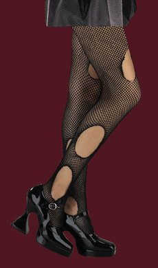 Wicked Court Torn Fishnets Halloween Accessory