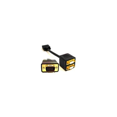 Svga Cable Splitter (PTC Premium 1-FT GOLD Series VGA / SVGA 1 source to 2 displays Splitter cable - 2 separated leads for the displays for greater reliability and eliminates signal interference. Duplicates)