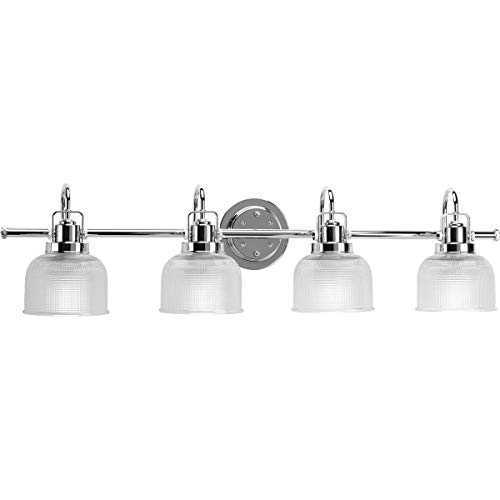 Progress Lighting P2997-15 Archie Collection Four-Light Bath & Vanity, Polished Chrome