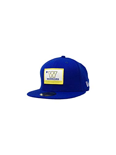 New Era Golden State Warriors 59Fifty Fitted Hat NBA Basketball Straight Brim Baseball Caps (7 1/8, Blue Tipoff Series)