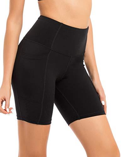 coastal rose Women's High Waist Workout Shorts Tummy Control Yoga Shorts 7