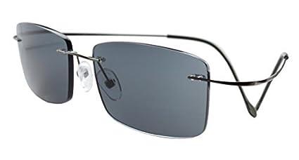 Eyekepper Gafas de sol de lectura de tiranio marco sin borde para hombres +0.75