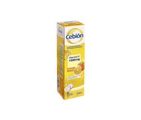 Cebión Effervescent Tablets 20Comp - Reduces Fatigue and Gives Energy - Optimal Functioning of The Immune and Nervous