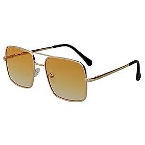 Dormery Square Sunglasses Women 2018 Sunglasses Flat Top Ocean Lense Female Vintage Sun Glasses Men Eyewear Yellow Lens