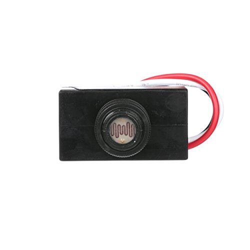 1 120v Remote Ballast - Woods 59408WD Outdoor Hard-Wired Post Eye Light Control with Photocell Light Sensor