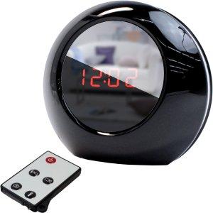 スパイダーズX 置時計型カメラ シャインクロックミニ 小型カメラ スパイカメラ (R-210) ブラック B00856LDTS black black