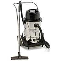 Powr-Flite PF57 Dual Motor Wet Dry Vacuum with Stainless Steel Tank and Tool Kit, 20 gal Capacity