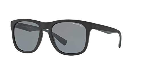 Armani Exchange Men's 0ax4058s Square Sunglasses, Matte Black, 56.0 mm