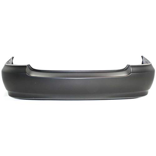 MBI AUTO - Painted to Match, Rear Bumper Cover Replacement for 2003-2008 Toyota Corolla w/Out Ground Effects 03-08, TO1100208