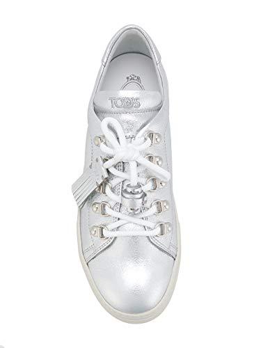 Tod's Mujer Cuero Zapatillas Plata Xxw0xk0v200mecb200 rArwxpOqC