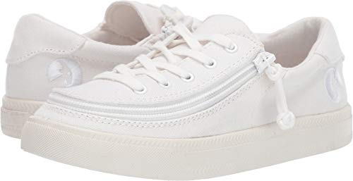 BILLY Footwear Kids Unisex Classic Lace Low (Toddler/Little Kid/Big Kid) White 2 M US Little Kid