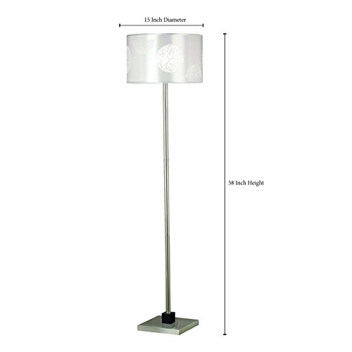 Kenroy Home 20963BS Cordova Floor Lamp, Brushed Steel with Graphite Accents by Kenroy Home (Image #3)