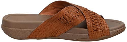 FitFlop-Men-039-s-Surfer-Slide-Woven-Leather-Croc-Embo-Choose-SZ-color thumbnail 8
